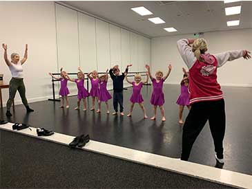 Our mini tappers working on their rhythm skills