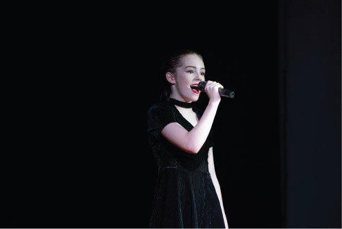 Singer at Dance Expression show