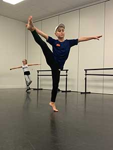 One of our Street dancers working on their high kicks